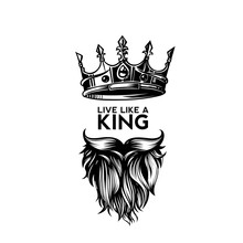 King Crown, Moustache And Bear...