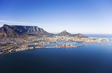 Aerial View Of Cape Town Harbo...