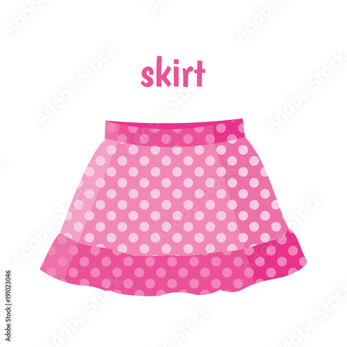 Canvastavla Pink skirt vector illustration