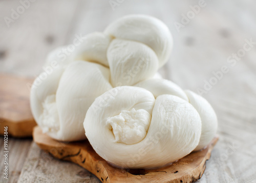 Cuadros en Lienzo Italian cheese braided Mozzarella