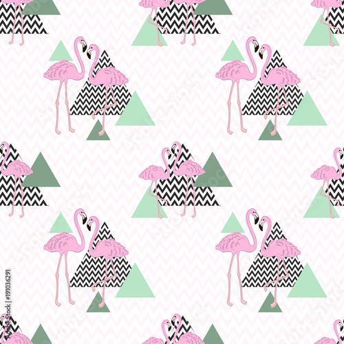 bezszwowe-wektor-wzor-flamingo-zwrotnik