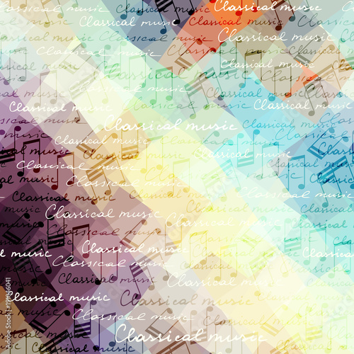 Fotografia Classical music background pattern with the notes.