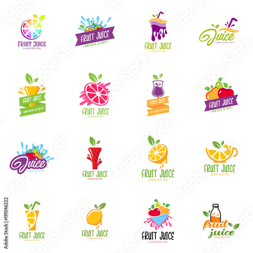 fruit juice logo set buy this stock vector and explore similar vectors at adobe stock adobe stock fruit juice logo set buy this stock