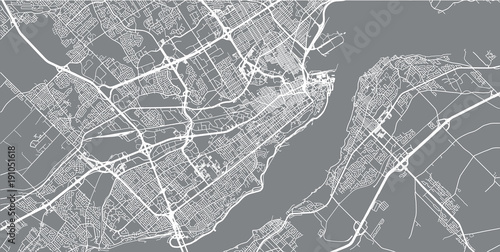 Fotografie, Obraz Urban vector city map of Quebec, Canada