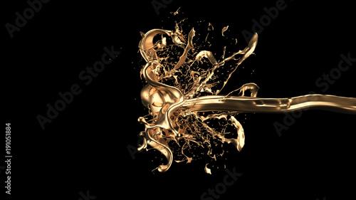 tajemniczy-mistyczny-luksusowy-plusk-zlota-3d-ilustracja-3d-rendering