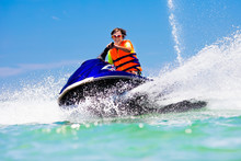 Teenager On Jet Ski. Teen Age ...