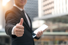 Businessman Showing Thumbs Up ...