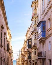 Colorful Valleta Malta Europe ...