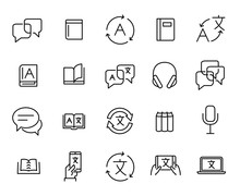 Simple Collection Of Translate Related Line Icons.