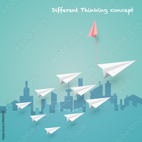 Difference Thinking Is Make More Experience And Successful Concept