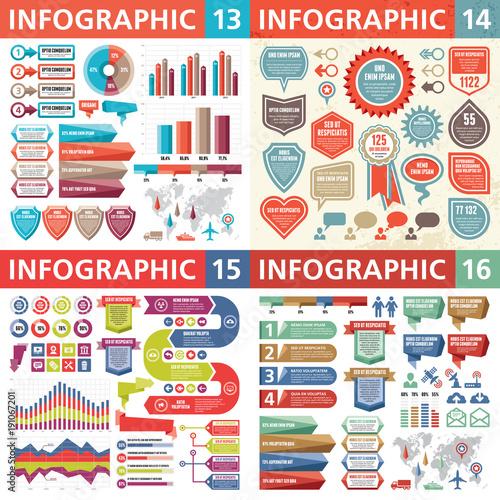 Infographic business design elements - vector illustration Canvas Print