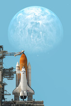 Space Shuttle Taking Off On A ...