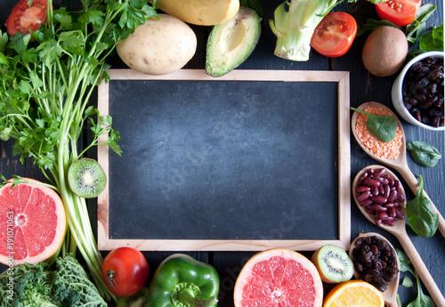 Deurstickers Keuken Organic food background