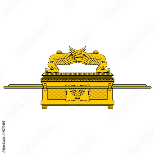 Leinwand Poster The Ark of the Covenant is the shrine of the Jewish people