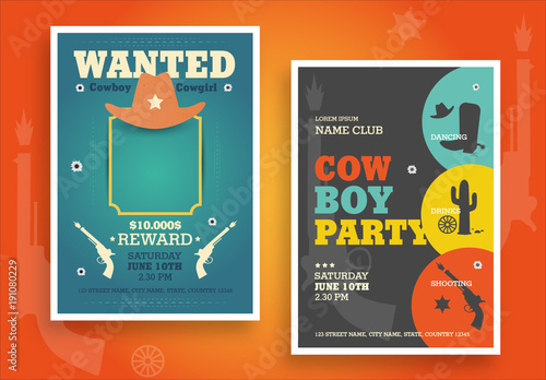 western themed party poster layouts buy this stock template and