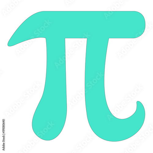 Pi Mathematical Constant Symbol Vector Icon Buy This Stock Vector