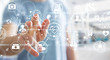 Leinwanddruck Bild - Businessman using digital medical interface 3D rendering