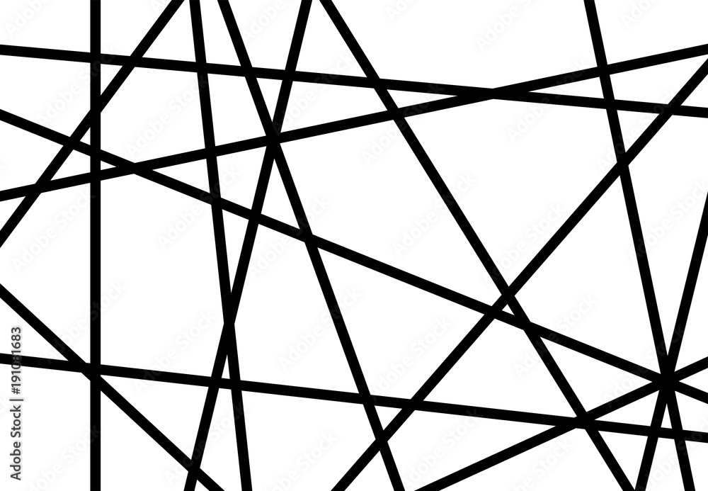 Fototapeta Abstract background with scattered black lines