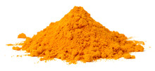 Turmeric Powder Isolated On Th...