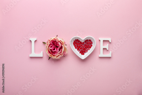 Fotografie, Obraz  Valentines day concept with love letters on pink background