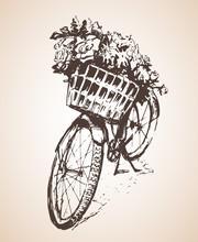 Bike With Big Bunch Of Flowers...