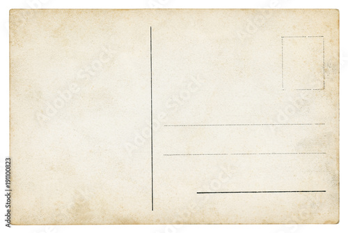 Cuadros en Lienzo Vintage Postcard - isolated (clipping path included)
