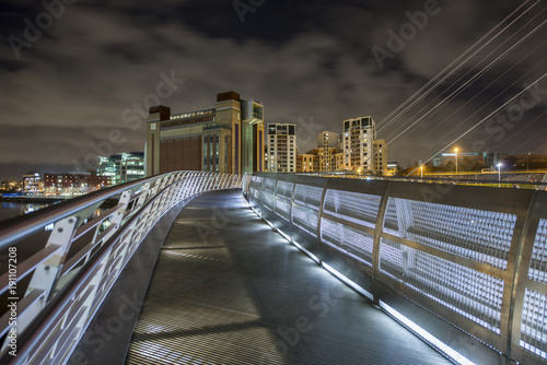 Wall Murals Northern Europe Gateshead Millennium bridge looking towards The Baltic Arts Centre