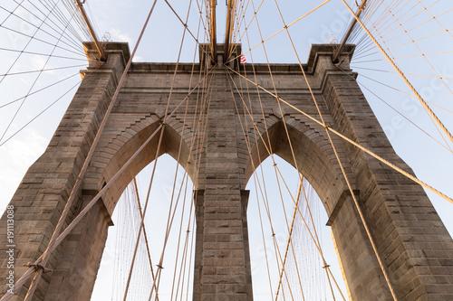 Fototapety, obrazy: Top of Brooklyn Bridge