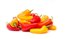 Small Sweet Peppers Isolated O...