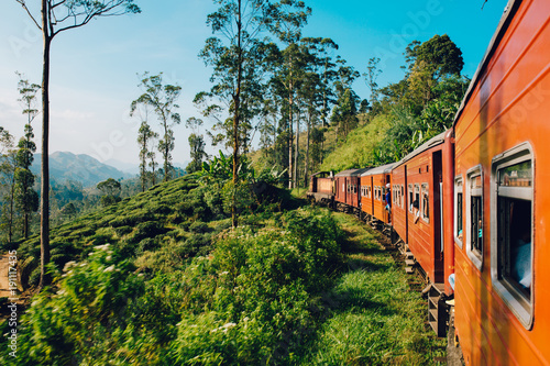 Best train ride in Sri Lanka Canvas Print