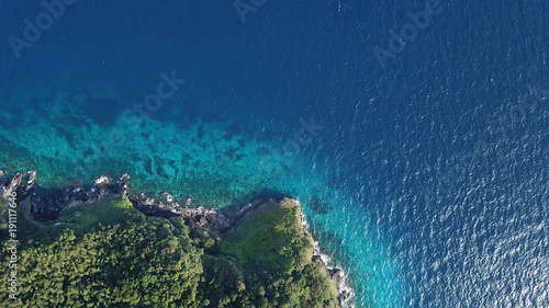 Staande foto Luchtfoto Coastline and sea, aerial photo