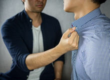 Man Grab Other By The Collar, ...
