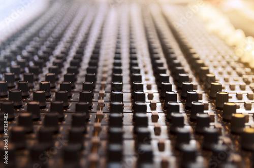 Fotografie, Obraz  Closeup mixing desk