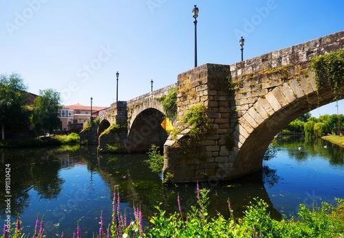 old bridge at Monforte de Lemos