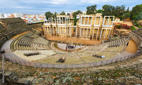 Old Roman Theatre in Merida, Spain