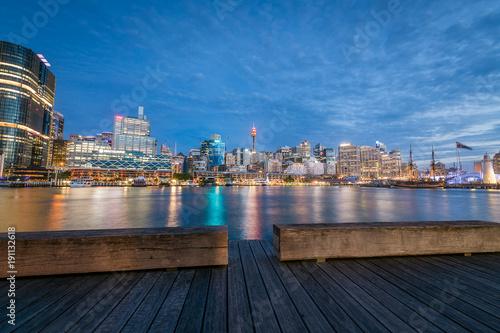 Keuken foto achterwand Noord Europa Darling Harbour at Blue Hour