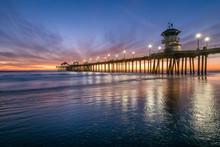 Huntington Beach Pier At Dusk