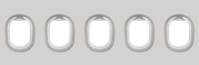 Blank White Airplane Windows