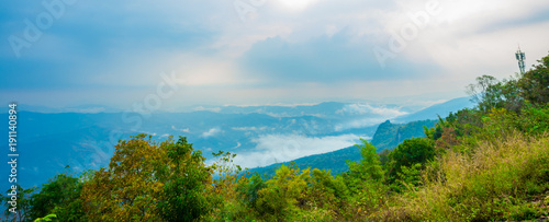 Foto op Aluminium Blauw Mountain Mist, thailand