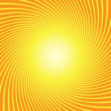 Sunburst Twist Yellow Orange Background