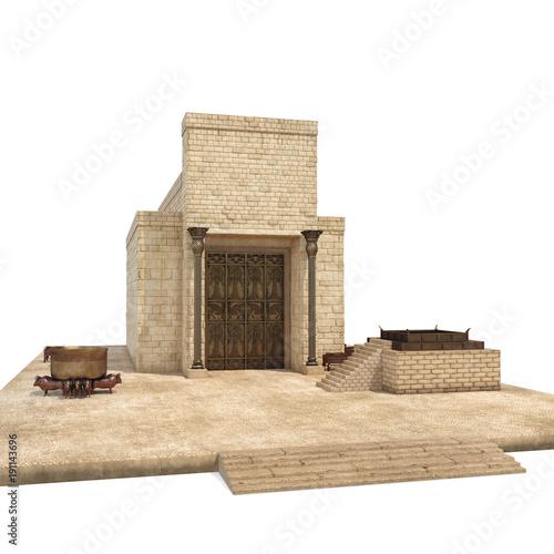 Solomons Temple on white. 3D illustration Fototapeta