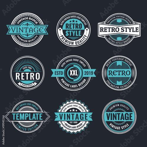 Pinturas sobre lienzo  Circle Vintage and Retro Badge Design Collection