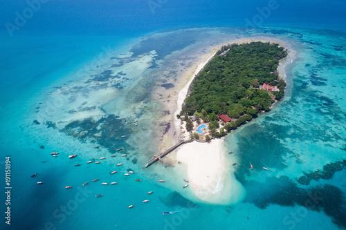 Aerial view of Prison island, Zanzibar
