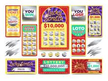 Winning Scratching Lottery Vec...