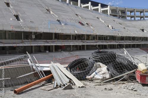 Spoed Foto op Canvas Stadion Stadium works