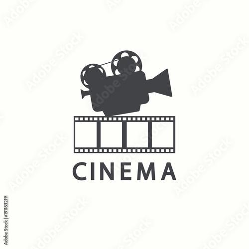 Cinema Logo Vector Movie Emblem Template Acheter Ce Vecteur Libre