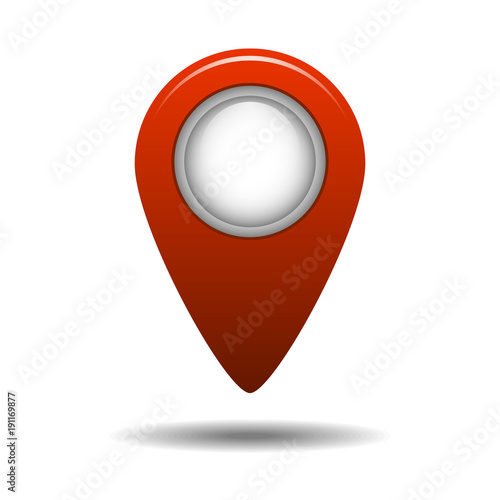 map pointer icon gps location symbol red pin modern realistic