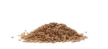 Pile Of Green Lentils Isolated...