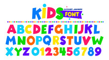 Kids Font In The Cartoon Style...
