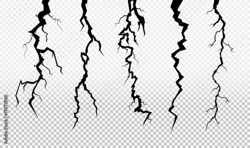 Set of crack in surface  Rift in earth  Flat for instant